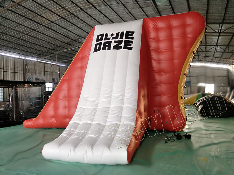 floating inflatable water slide