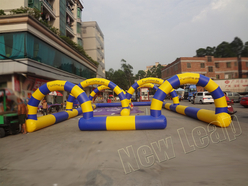 go kart inflatable racing track games