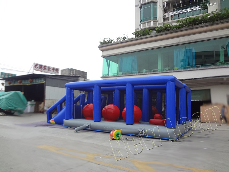Interactive inflatable obstacle