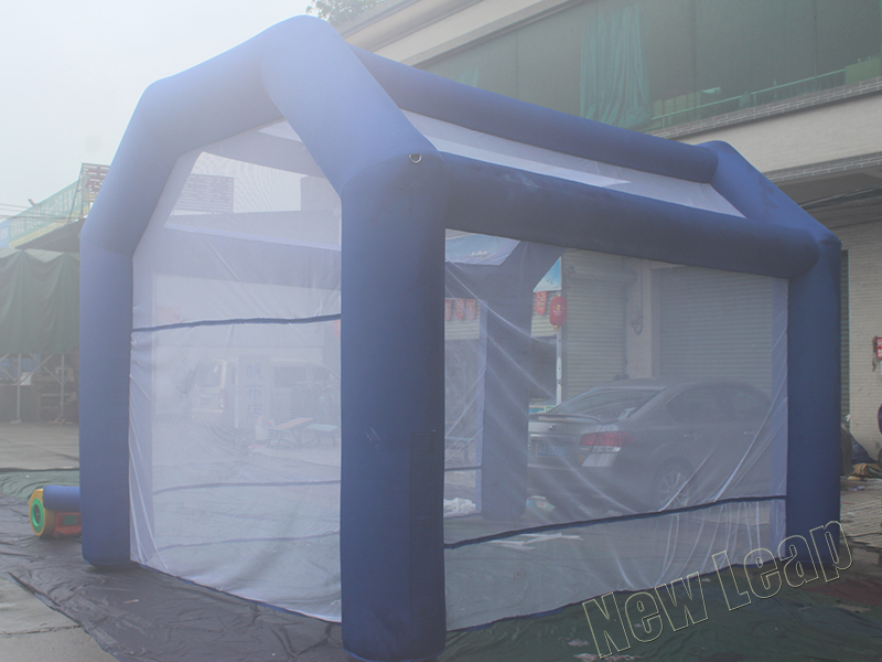 Inflatable trade show tent