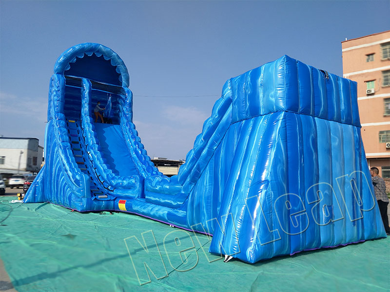 giant inflatable zip line game