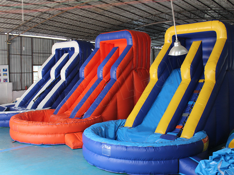 small inflatable water slide