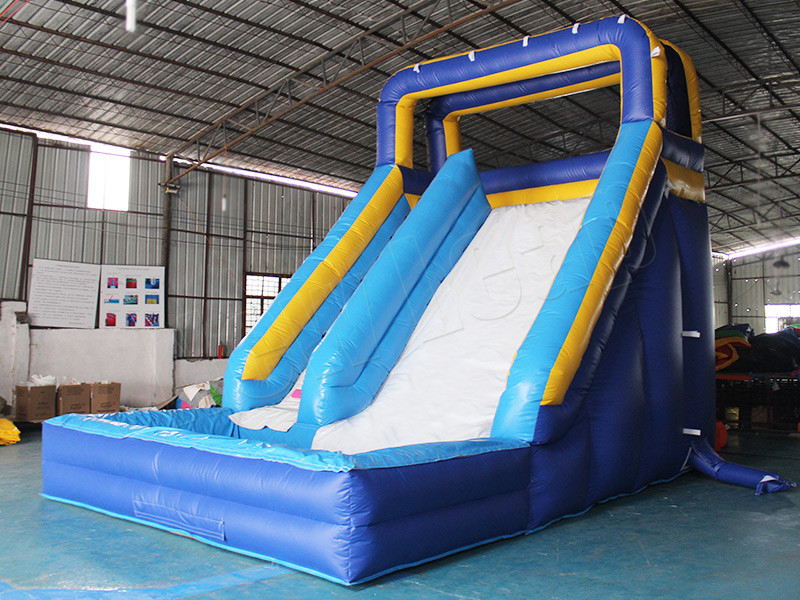 inflatable splash water slide