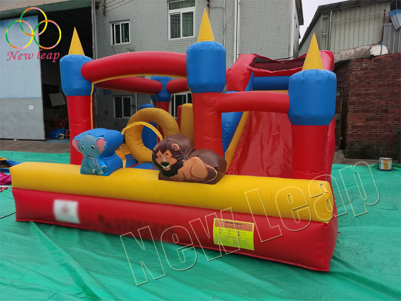 red bounce slide