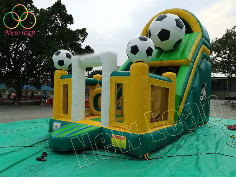 football themed inflatable slide