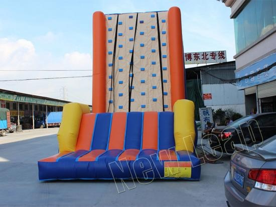 Inflatable rock climbing wall