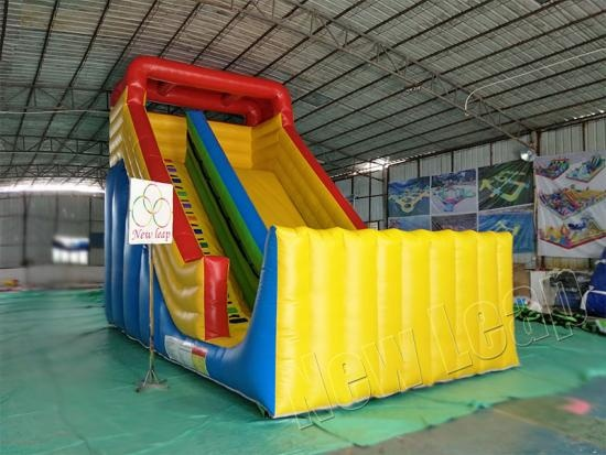 single lane inflatable slide