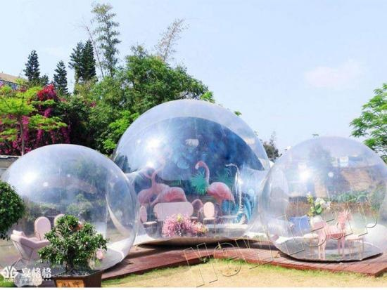 Inflatable bubble dome tent