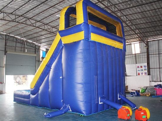inflatable slide with splash water slide
