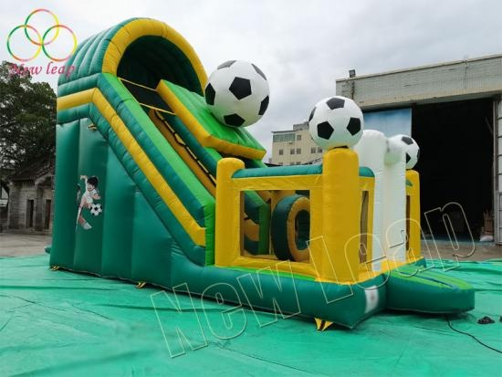 football themed inflatable dry slide